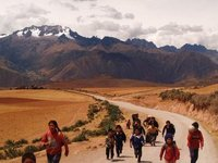 on the way to Moray, sacred valley